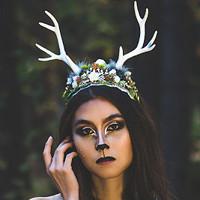 7c397190d62 Přírodní čelenka s parůžky Halloween   Zboží prodejce Čarbičková Bijoux