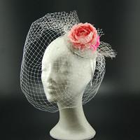 Růže svatební klobouk s francouzským závojem bd2f4ec4cc