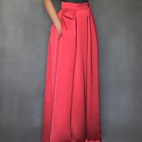 Společenská skládaná sukně s kapsami různé barvy c3fbcc69ca5