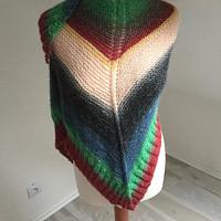 pletený zimní šátek