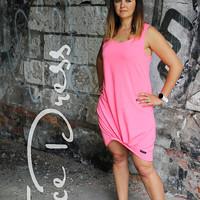 5113bbe6e99 šaty NEON pink SPORT DOSPĚLÉ (vel. M)