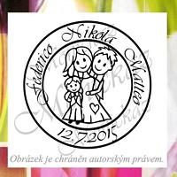 Svatební kulaté s chlapečkem. Omyvatelné razítko. f43e22d595a