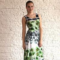 Elegantní dlouhé letní šaty s motivem květů caccd92d37