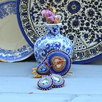 Voyage en Arabie - Blue Folk - sada šperků 7574a74f72
