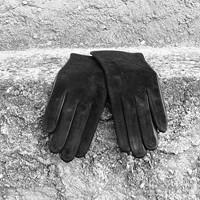 Semišové dámské rukavice s hedvábnou podšívkou 0c707d7512