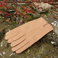 Béžové kožené rukavice s hedvábnou podšívkou f671480a4c