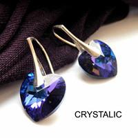 Srdíčkové naušnice Swarovski crystals na stříbře 5bdad5bf9f5
