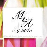 Svatební s iniciály s datem větší... Omyvatelné. 8af0a29319a