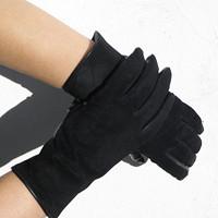 Výprodej-semišové rukavice s hedvábnou podšívkou 5afe56553b
