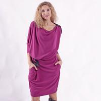 Tmavěrůžové krátké šaty- snížený pas · La déesse chic 4f7a2feba5
