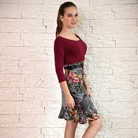 Elegantní šaty barevné s květinovou sukní c7c8a99e33