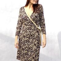 Hnědobéžové zavinovací šaty..vel.XL..sleva z 894 e28c23e9132