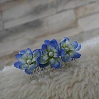 ac07a3a9cf6 hřebínek do vlasů modrokrémový