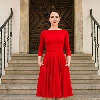 Bamboo šaty Osudová Amabile červená (lodička) · Reparáda a37d4aea57