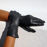 Šedé dámské kožené rukavice s hedvábnou podšívkou d4b375f382