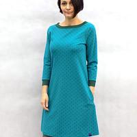 Zeleno-petrolejové áčkové šaty...vel. L 90fe987803d