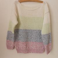 9f0fce06223 Ručně pletený bavlněný svetřík - halenka