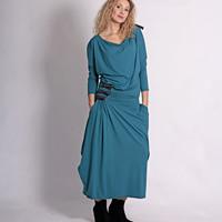 Petrolejové dlouhé šaty s pásky · La déesse chic 2dca5fd1d0