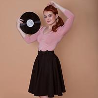 9f0ba0a79549 Kolová černá sukně Lovely (XL (na objednávku))