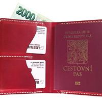 Cestovní kožené pouzdro na doklady v003 · Lasota Vít a9326e887b