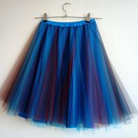 788f046a63af modrá tónovaná tylová sukně -.