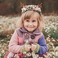 d3ab943a57f Něžná květinová čelenka s parůžky Halloween   Zboží prodejce Čarbičková  Bijoux