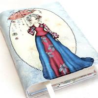 03d521a65305 Detské úpletové šaty - Pod deštníkem · azavodska · O+. 44.19 €. DÁMA S  DEŠTNÍKEM I - nastavitelný obal na knihu