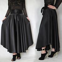 7386ca1c1791 Saténová asymetrická sukně různé barvy