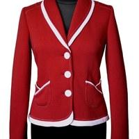 a671029095 Dámske športové sako - červená biela (R001) · Rencissa
