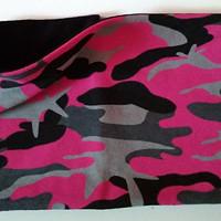 Nákrčník vel 55 56 šedo růžový maskáč podšití čern 6daa8b0a6f