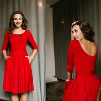 Bamboo šaty Osudová Rozálie červená (výstřihy) · Reparáda · O+. 77.71 €. Lněná  zavinovací sukně (světle ... c4e008926b
