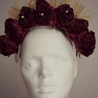 Čelenka z růží a tylu pro lektorku jógy · PEPE Cap by Radka fcebbff1b1