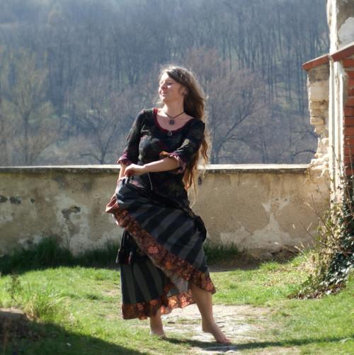 "\""O cikánské Duši...\"" maxi šaty Gypsy Queen II"