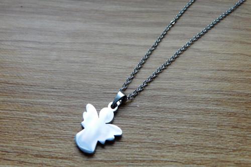 Naušnice-Nerezoví andílci pro štěstí......
