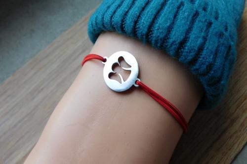 Náramek - S nerezovým andílkem v kolečku♥