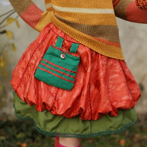 Dívka, co miluje pomeranče...balonová sukně