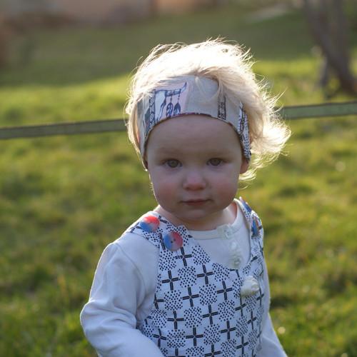 Od malička krásná ...batolecí čelenka BIO