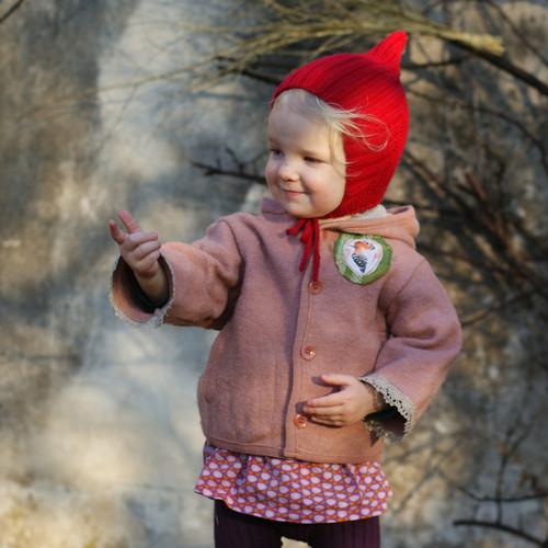 Mé princezně...vlněný kabátek RECY 1-2 roky