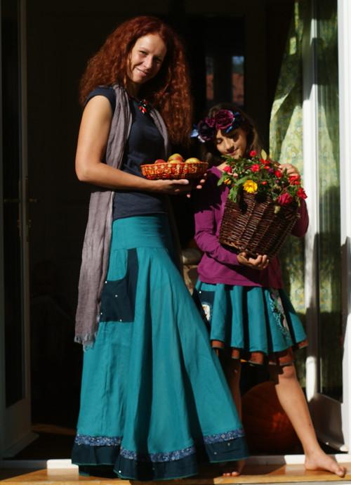 Podzimní královna ... maxi sukně z ramie vel. M