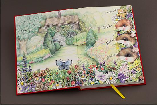 """Přední předsádka knihy """"Příběhy ze staré zahrady"""""""