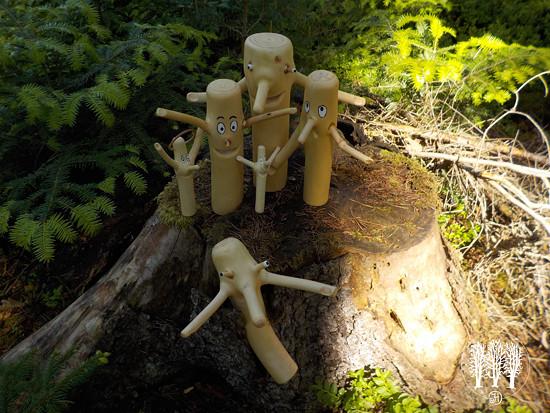 Rodinka skřítků z našeho lesa