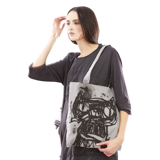 valevska taška s kočkou fashion cotton bag