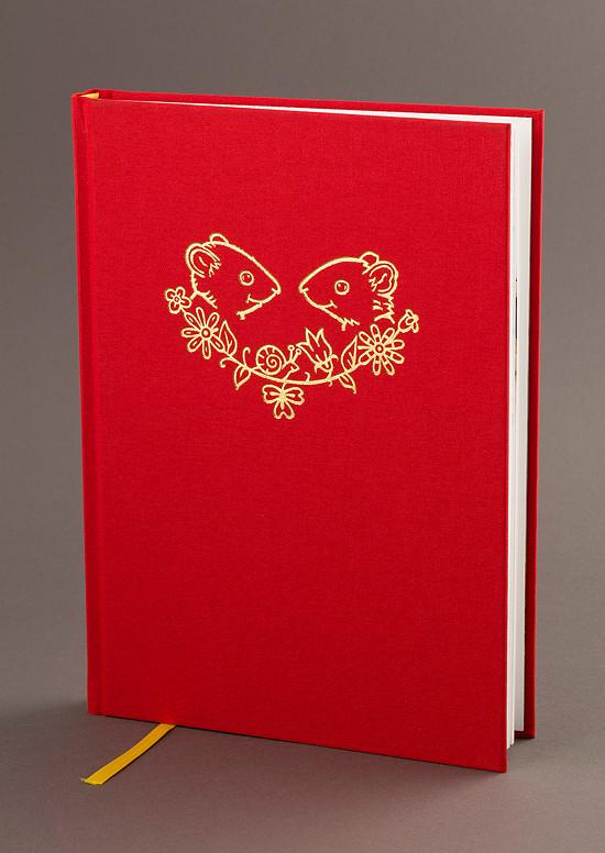 """Plátěná vazba knihy """"Příběhy ze staré zahrady"""" se zlatou ražbou"""