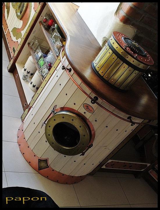 design furniture design kitchen steampunk hippie styl vw bus bulli papon design