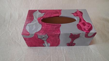 Ručně malovaná krabička na kapesníky