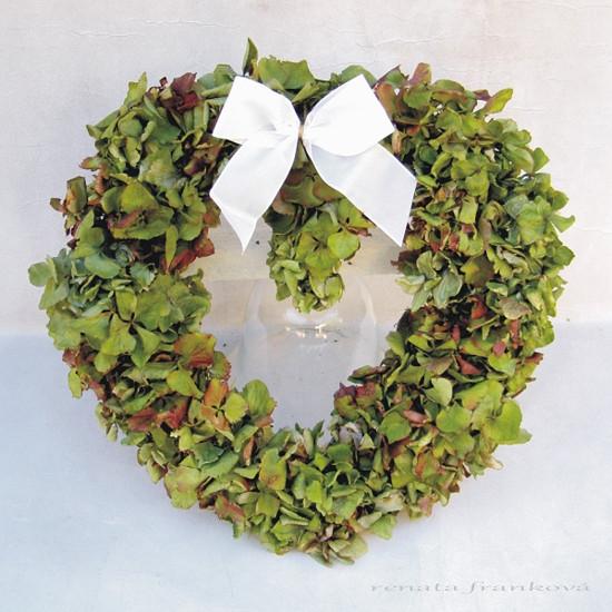 Srdce z hortenzie - sušina