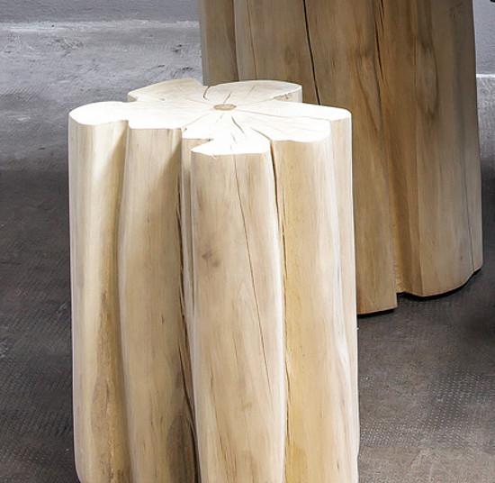 Přírodní stolek z masivu