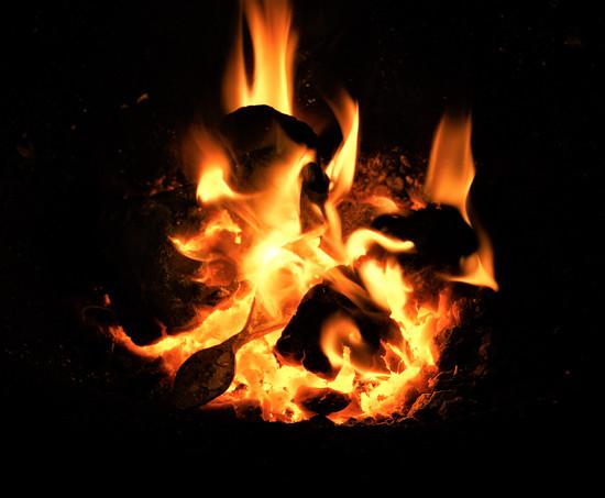 ohřívání hrotů ve výhni