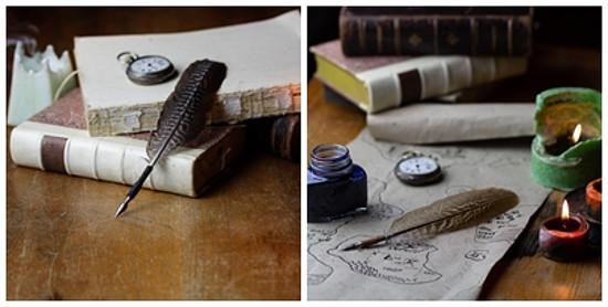 psací brky z peří