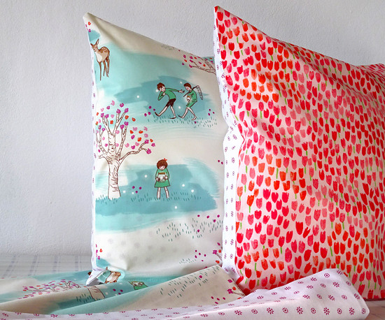 dekorační povláčky na polštářky 40x40